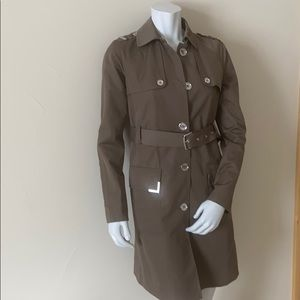 Michael Michael Kors Army Green Trench Coat Size S